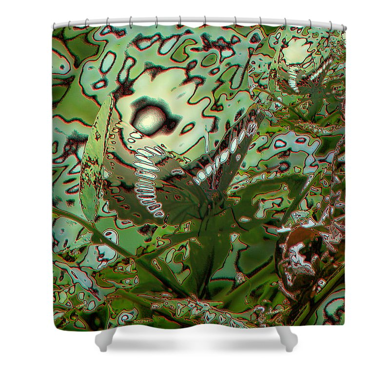 Abstract Shower Curtain featuring the photograph Butterfly by Jeff Swan