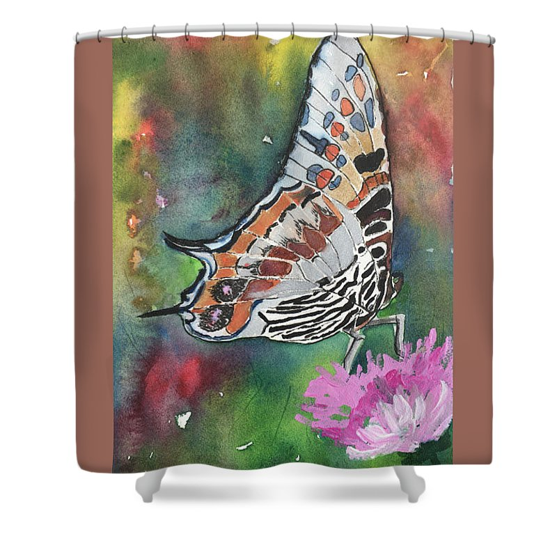 Butterfly Shower Curtain featuring the painting Butterfly by Marita McVeigh