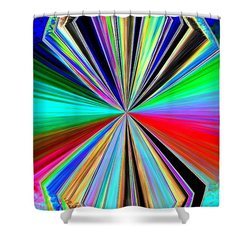 Abstract Shower Curtain featuring the digital art Candid Color 8 by Will Borden