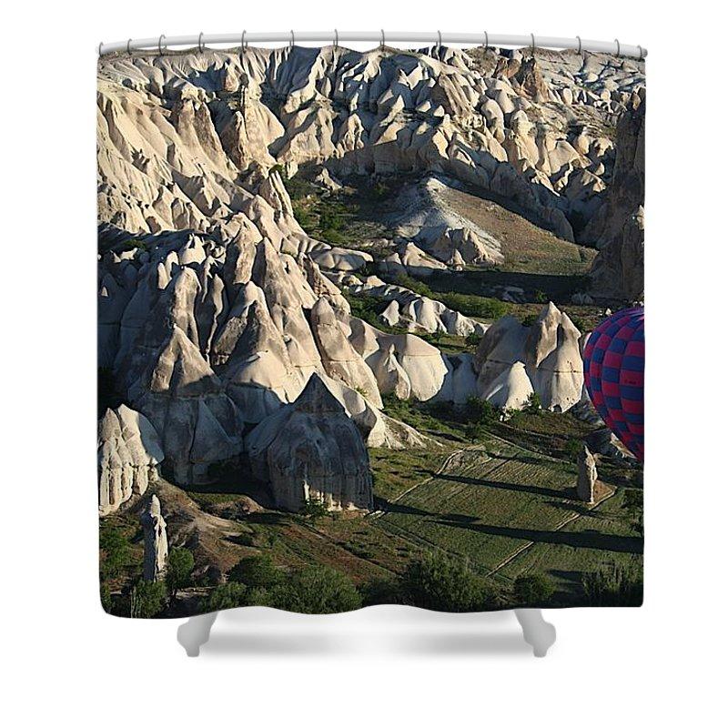 Cappadocia Shower Curtain featuring the photograph Cappadocia26 by Yesim Tetik