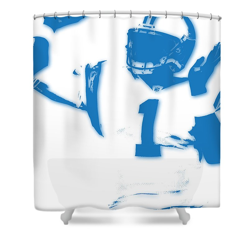 Panthers Shower Curtain Featuring The Photograph Carolina Cam Newton By Joe Hamilton