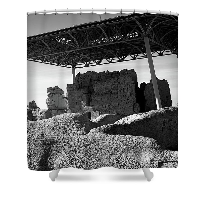 Abandoned Shower Curtain featuring the photograph Casa Grande Ruins by Paul Moore