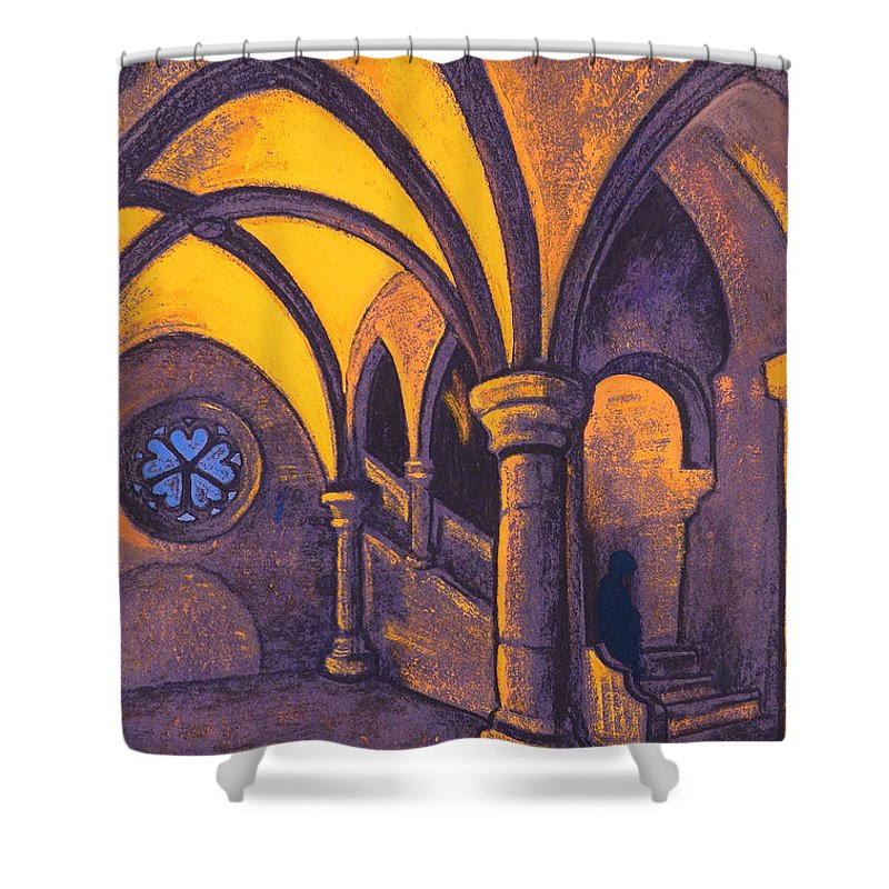 Architectural Shower Curtain featuring the painting Castle by Nicholas Roerich
