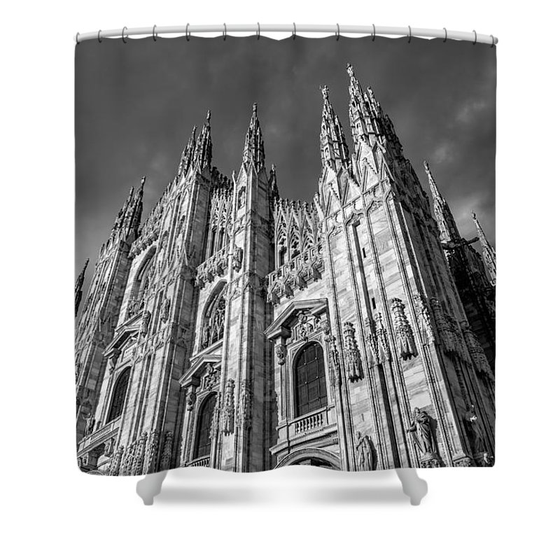 Duomo Shower Curtain featuring the photograph Cathedral Of Milan by Gary Fossaceca
