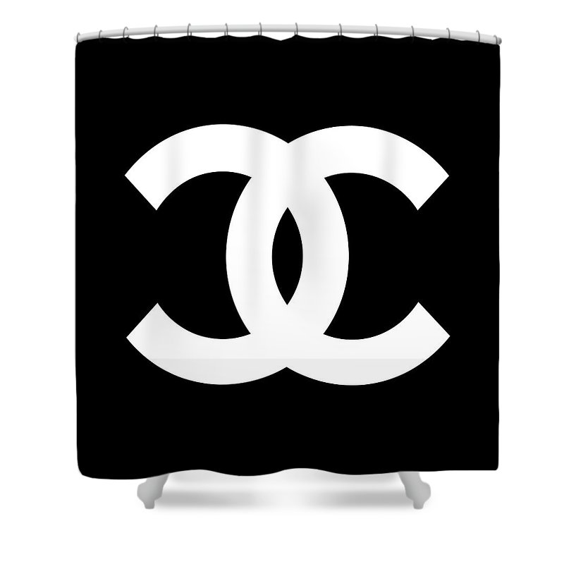 Chanel Shower Curtain Featuring The Digital Art Symbol By Voros Edit