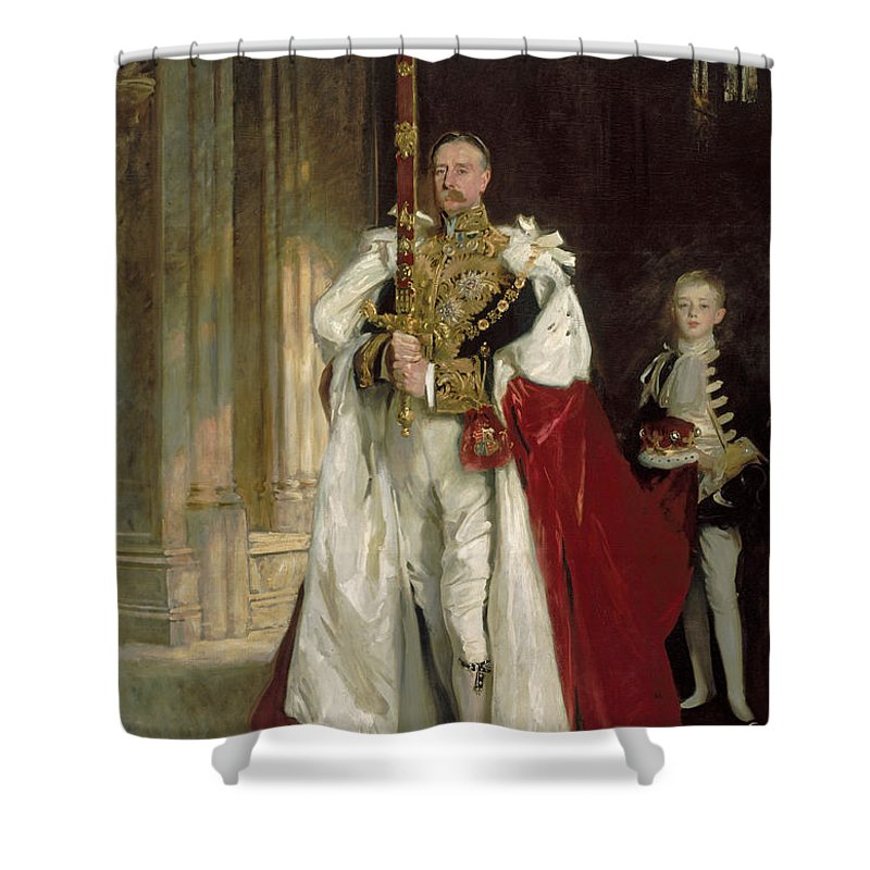 John Singer Sargent Shower Curtain featuring the painting Charles Stewart Sixth Marquess Of Londonderry by John Singer Sargent