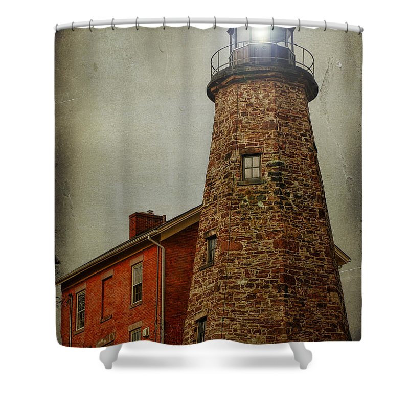 Lighthouse Shower Curtain featuring the photograph Charlotte Genesee Lighthouse by Joel Witmeyer