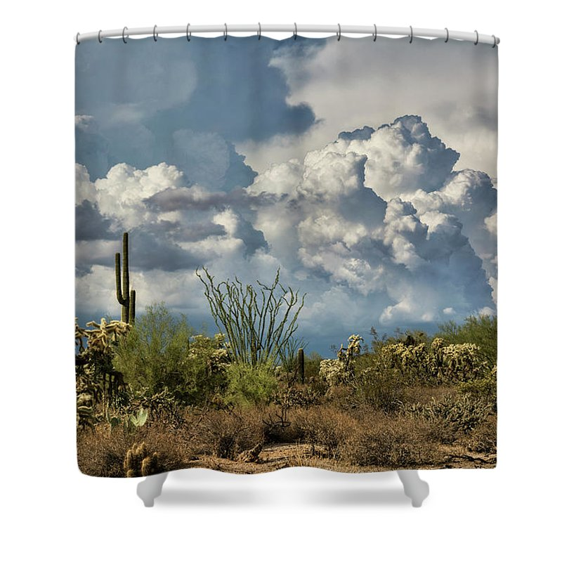 Arizona Shower Curtain featuring the photograph Chasing Clouds Again by Saija Lehtonen