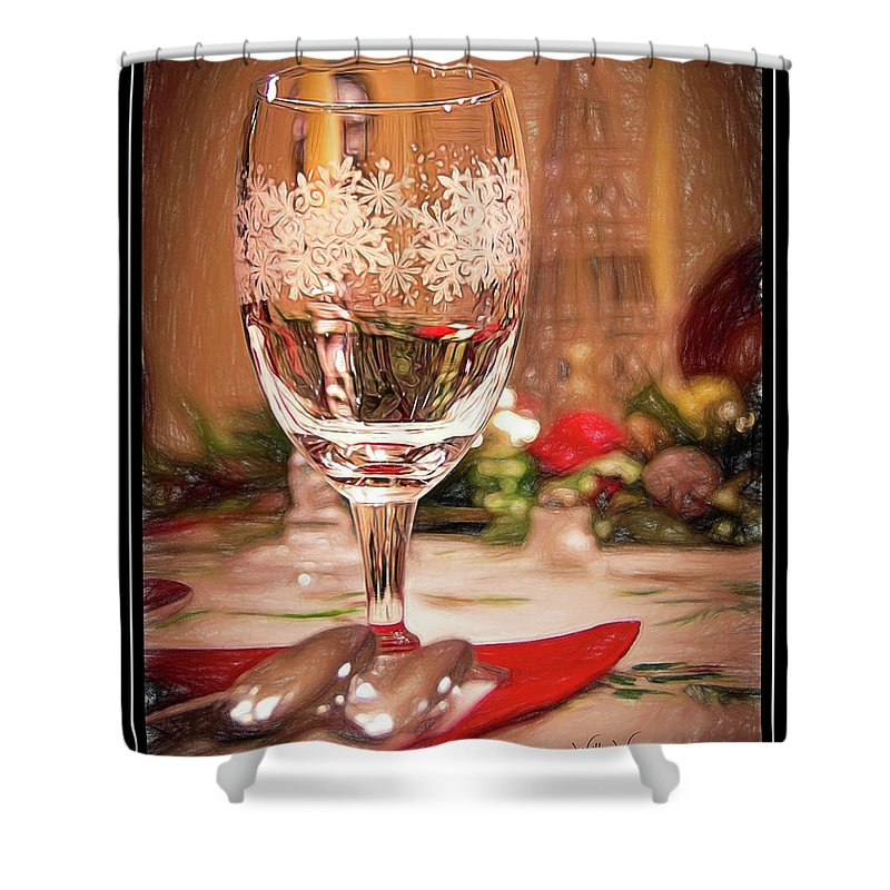 Wine Shower Curtain featuring the photograph Cheers by Will Wagner