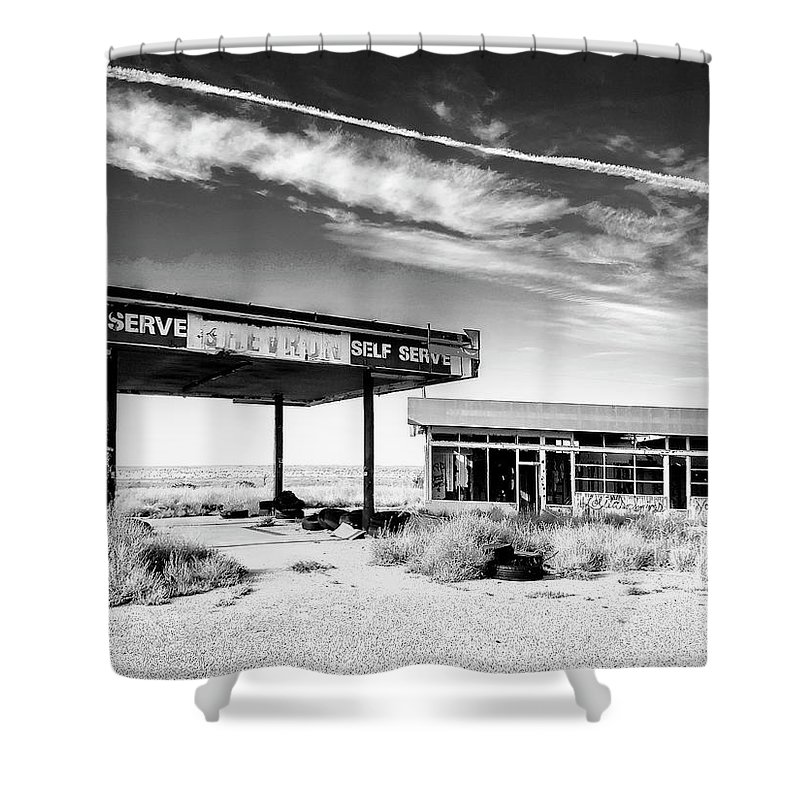 Abandoned Shower Curtain featuring the photograph Chevron Gone by Dominic Piperata