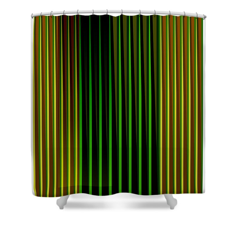 Cinetic Shower Curtain featuring the digital art Cinetic Art by Galeria Trompiz
