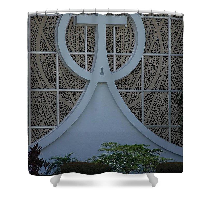 Church Shower Curtain featuring the photograph Circle T Church by Rob Hans