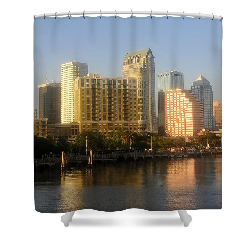 Tampa Florida Shower Curtain featuring the photograph City By The Bay by David Lee Thompson