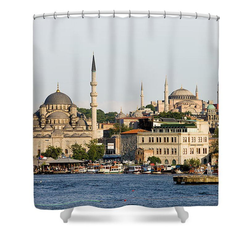 Landmark Shower Curtain featuring the photograph City Of Istanbul by Artur Bogacki