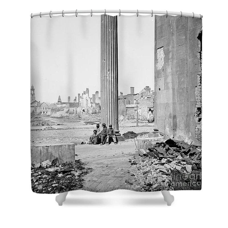 1865 Shower Curtain featuring the photograph Civil War: Charleston, 1865 by Granger