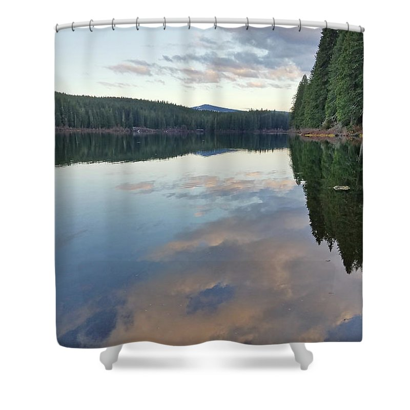 Lake Shower Curtain featuring the photograph Clear Lake, Oregon by Lindy Pollard