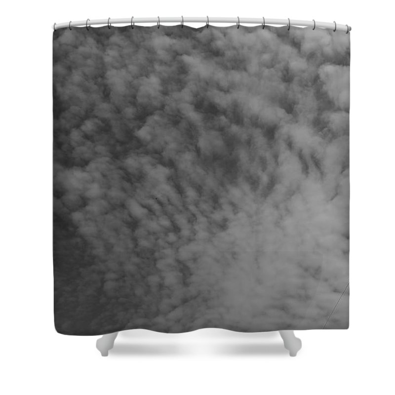 Shower Curtain featuring the photograph Clouds by John Bichler