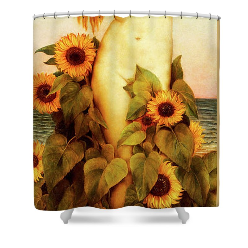 Evelyn De Morgan Shower Curtain featuring the painting Clytie by Evelyn De Morgan