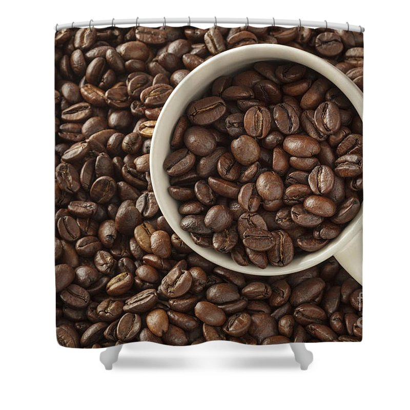 Beans Shower Curtain featuring the photograph Coffee Beans by Julie Woodhouse