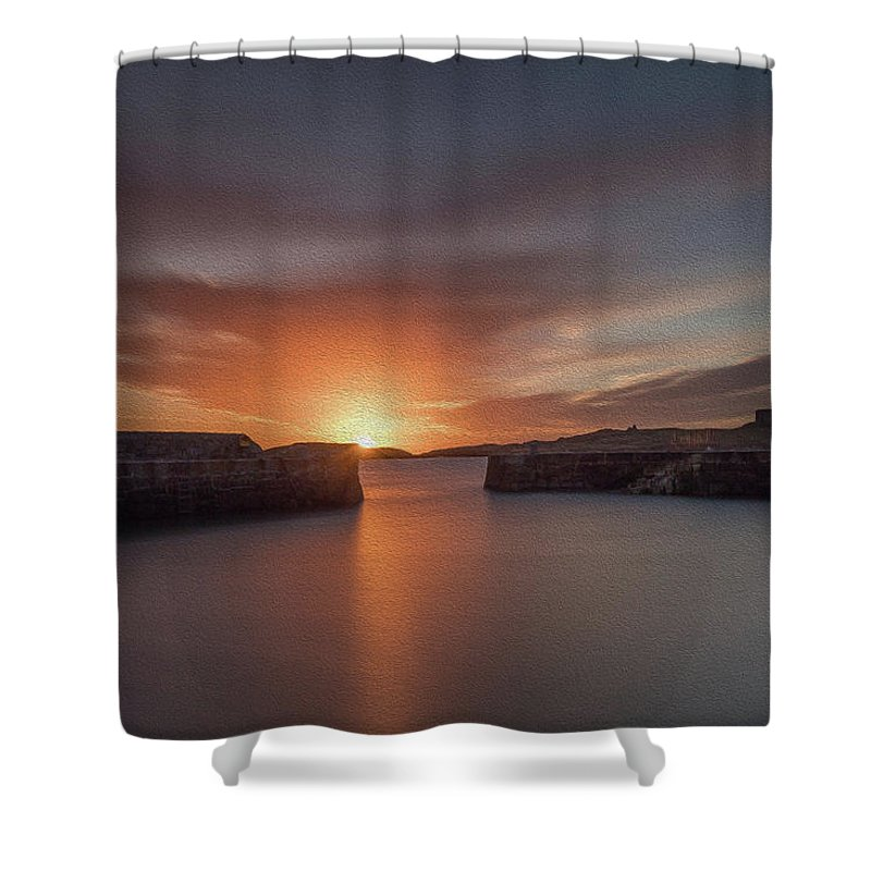 Sunrise Shower Curtain featuring the photograph Coliemore Harbour by Richard Patchell