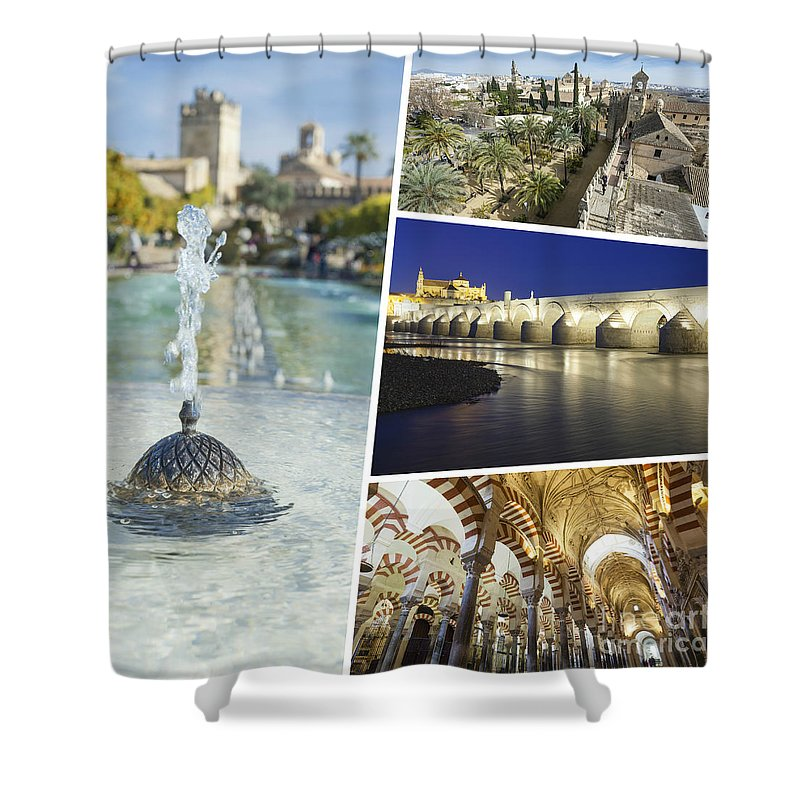 Cordoba Shower Curtain featuring the photograph Collage Of Cordoba by Mariusz Prusaczyk