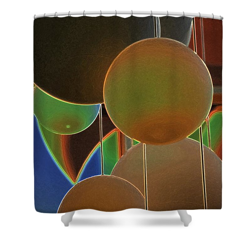 Colored Bubbles Shower Curtain featuring the photograph Colored Bubbles by Robert Meanor
