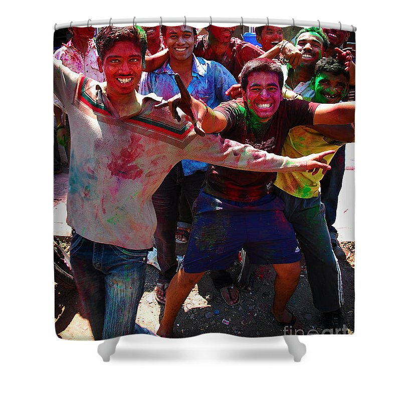 Boys Shower Curtain featuring the photograph Colors by Charuhas Images