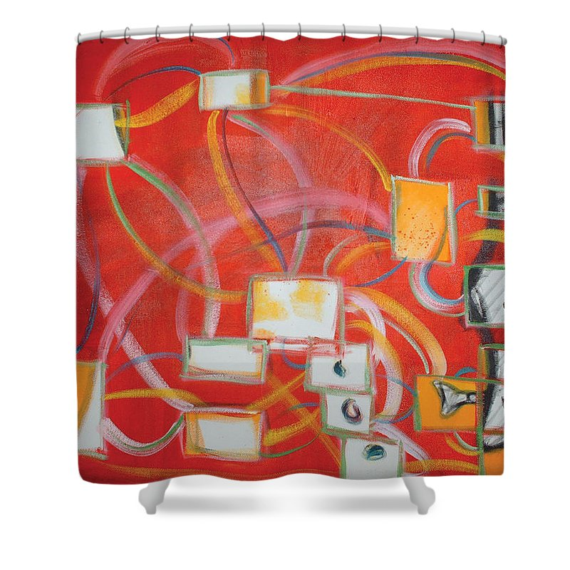 Oil Paint Shower Curtain featuring the painting Colour Of Music I by Michael Mooney
