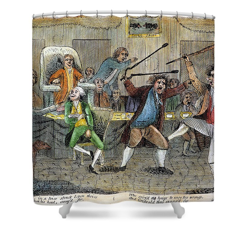 1798 Shower Curtain featuring the photograph Congressional Pugilists by Granger