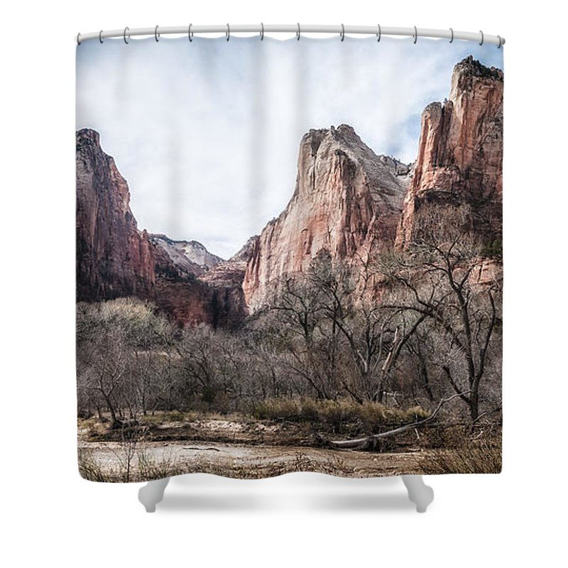 Beauty Shower Curtain featuring the photograph Court Of The Patriarchs by Artist Jacquemo
