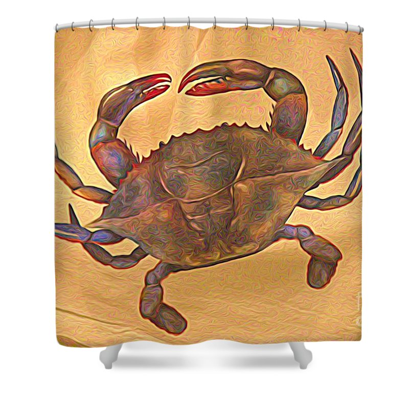 Crab Shower Curtain featuring the photograph Crab by Paulette Thomas