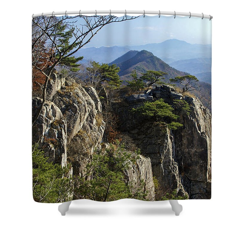 Korea Shower Curtain featuring the photograph Daedunsan by Michele Burgess