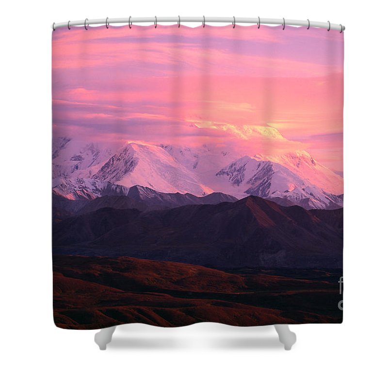 Altitude Shower Curtain featuring the photograph Denali National Park by John Hyde - Printscapes