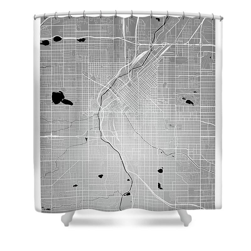 Denver Street Map - Denver Colorado Usa Road Map Art On Color Shower ...