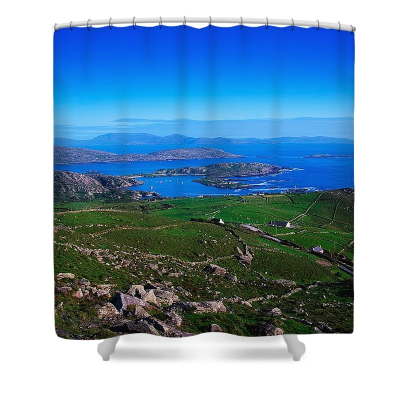Barren Shower Curtain featuring the photograph Derrynane Harbour, Caherdaniel, Ring Of by The Irish Image Collection