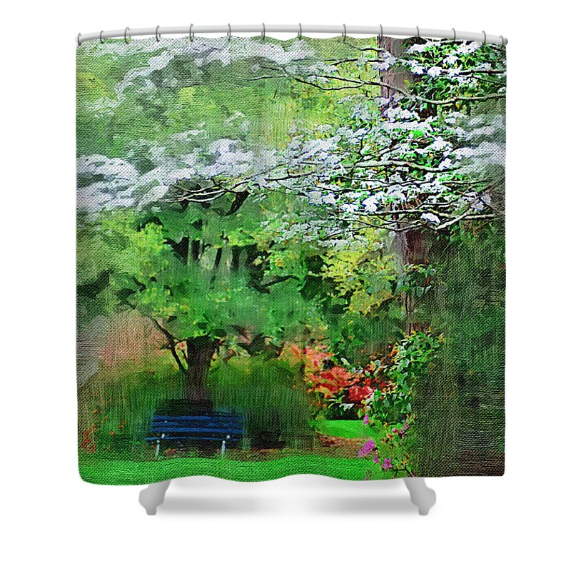 Dogwoods Shower Curtain featuring the photograph Dogwood by Donna Bentley