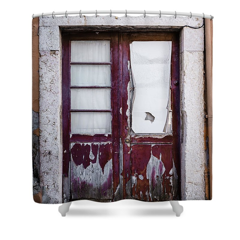 Old Door Shower Curtain featuring the photograph Door No 7 by Marco Oliveira