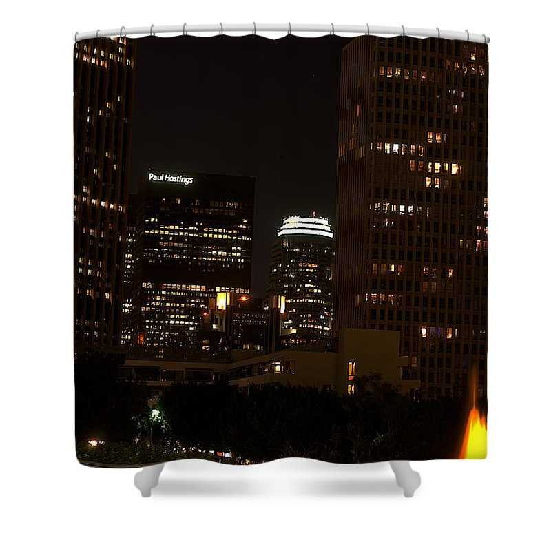 Clay Shower Curtain featuring the photograph Downtown L.a. In Hdr by Clayton Bruster