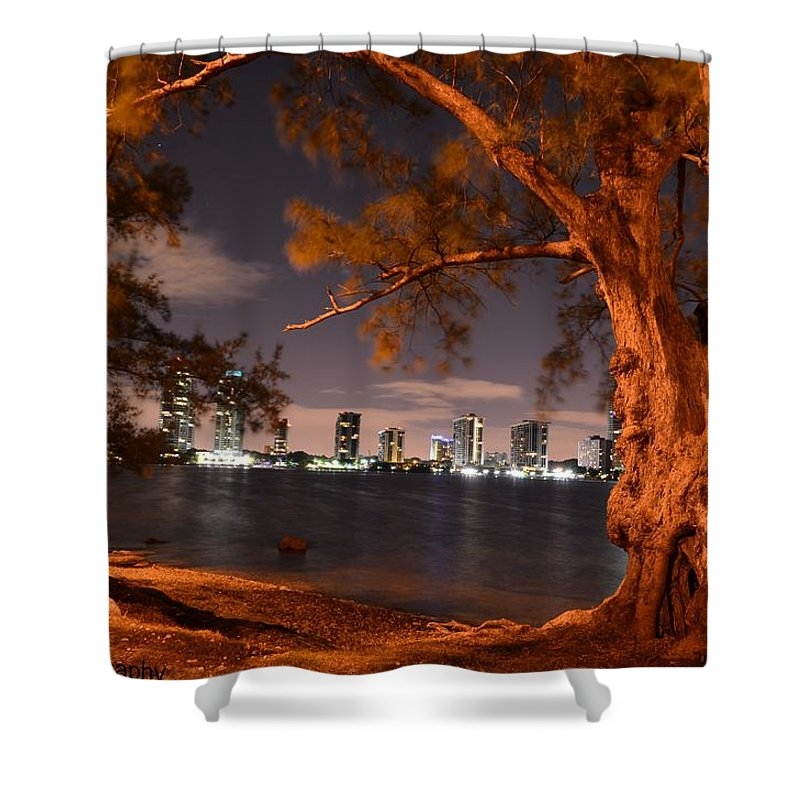 Downtown Shower Curtain featuring the photograph Downtown Miami by Jorge Cruz