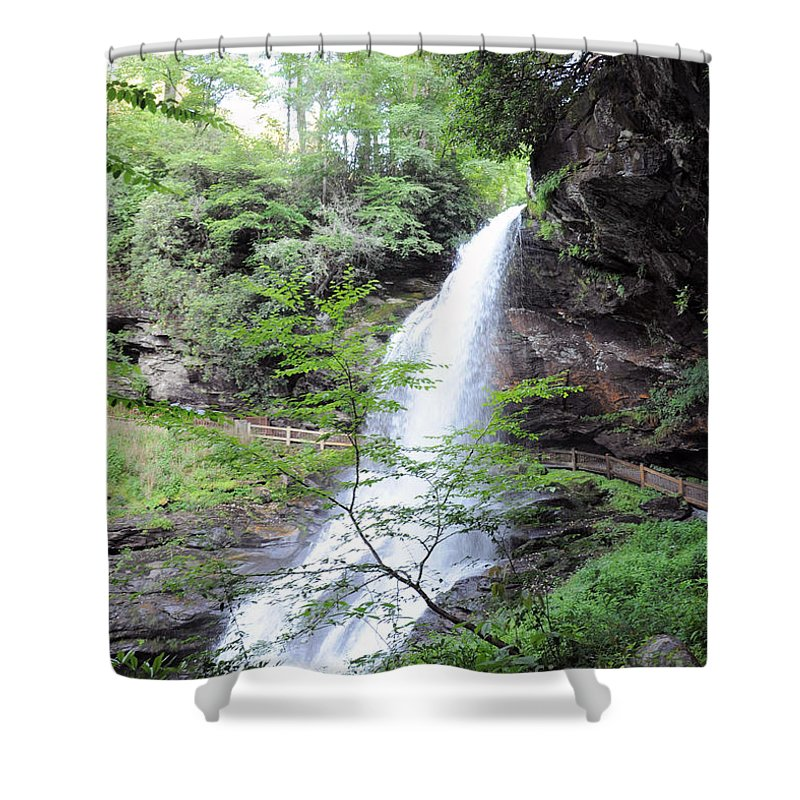 Dry Falls In Macon County Shower Curtain featuring the photograph Dry Falls by Savannah Gibbs