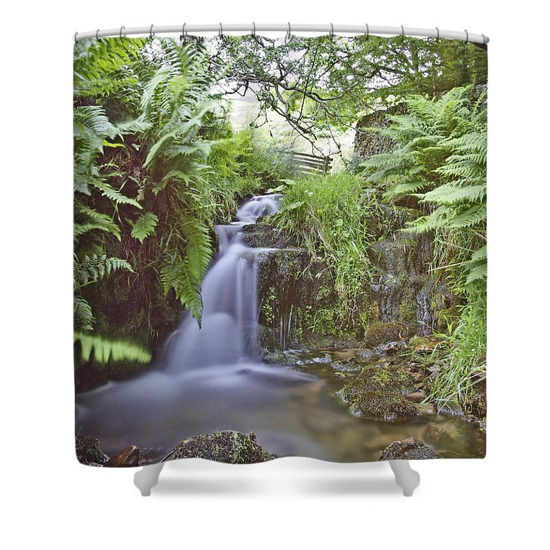 Landscape Shower Curtain featuring the photograph Edale River by Gary Hancock