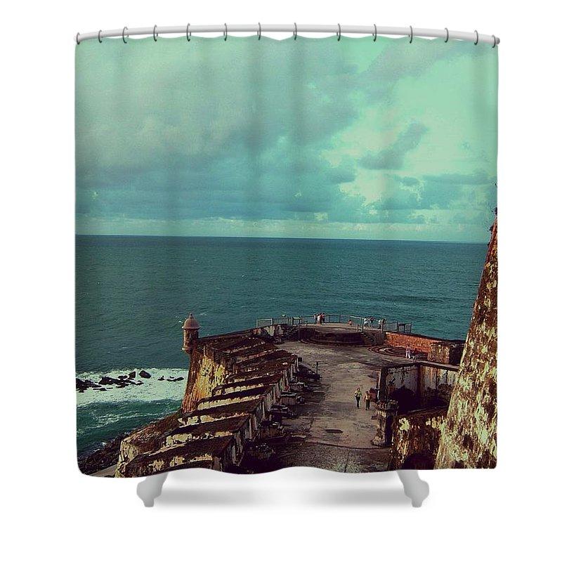 Caribbean Islands Shower Curtain featuring the photograph El Morro San Juan Puerto Rico by Gary Wonning