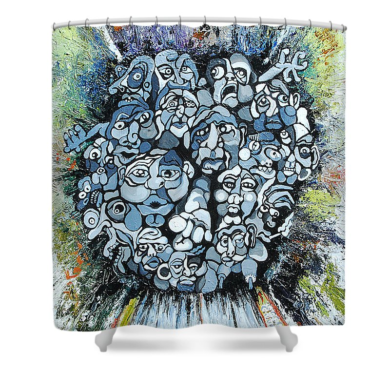 Surreal Shower Curtain featuring the painting Elevator by Julie Fischer