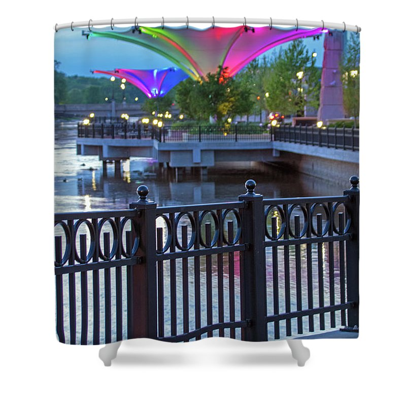 Elgin Shower Curtain featuring the photograph Elgin Festival Park by Ira Marcus