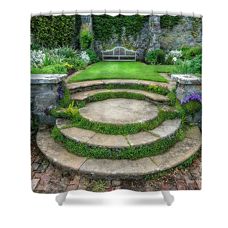 Flowers Shower Curtain featuring the photograph English Garden by Adrian Evans