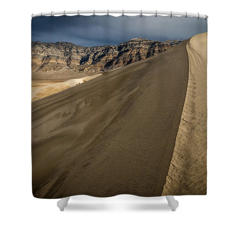 California Shower Curtain featuring the photograph Eureka Dunes by Cat Connor