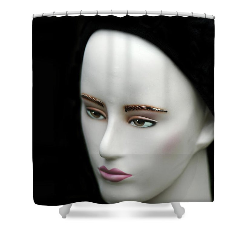Face Shower Curtain featuring the photograph Face by Charuhas Images