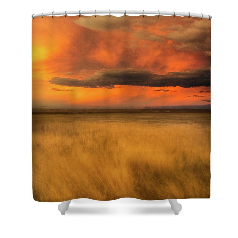 Usa Shower Curtain featuring the photograph First Encounter 2 by John Whitmarsh