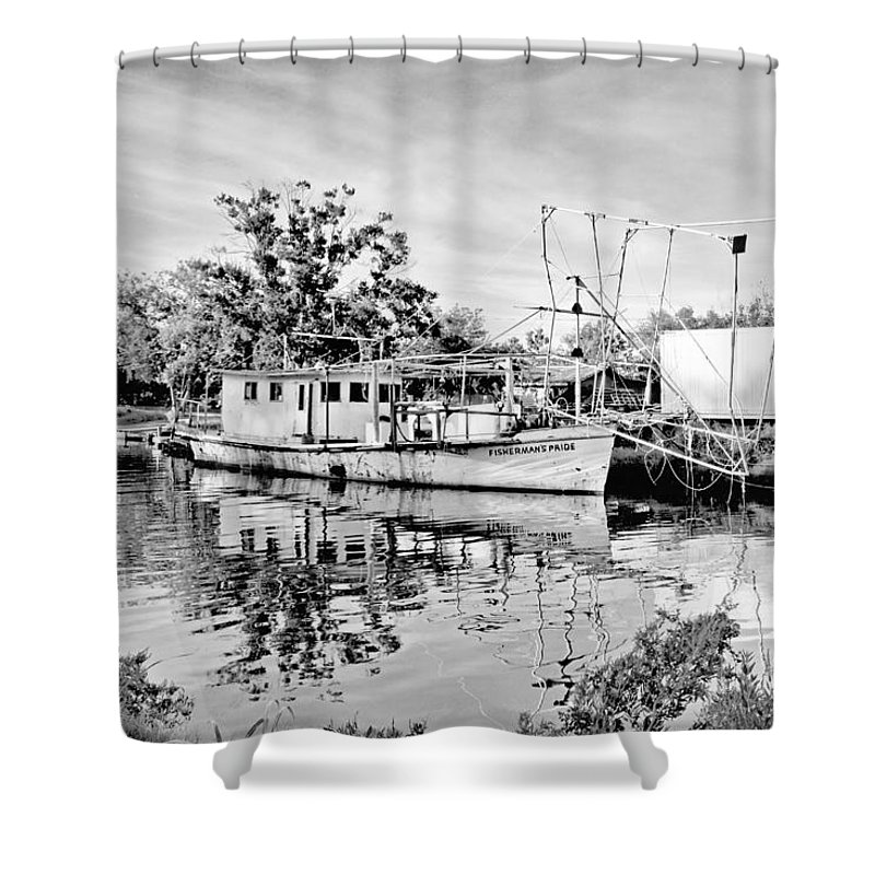 Boat Shower Curtain featuring the photograph Fisherman's Pride by Scott Pellegrin