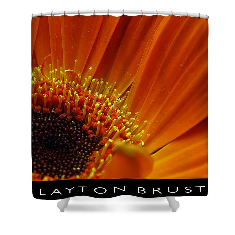 Clay Shower Curtain featuring the photograph Floral by Clayton Bruster